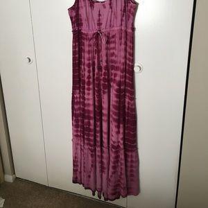 Tie Dye Maxi Dress in Pink